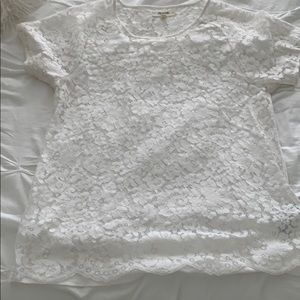Madewell beautiful lace top